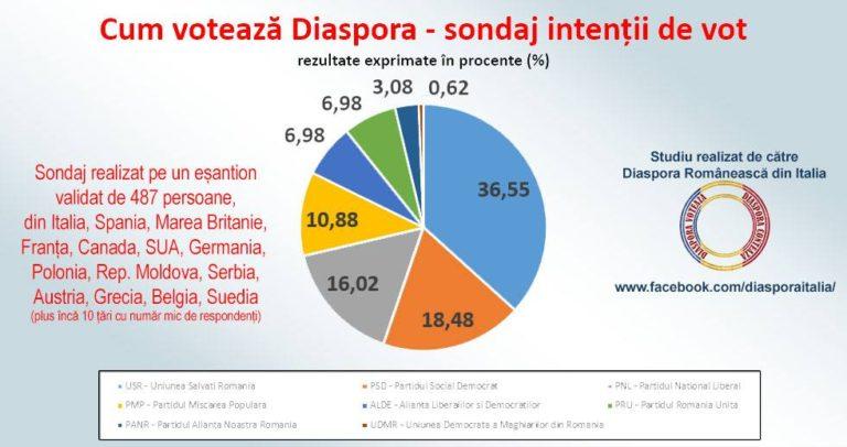 Cifrele care zguduie diaspora: ultmul sondaj de opinie realizat înainte de alegeri