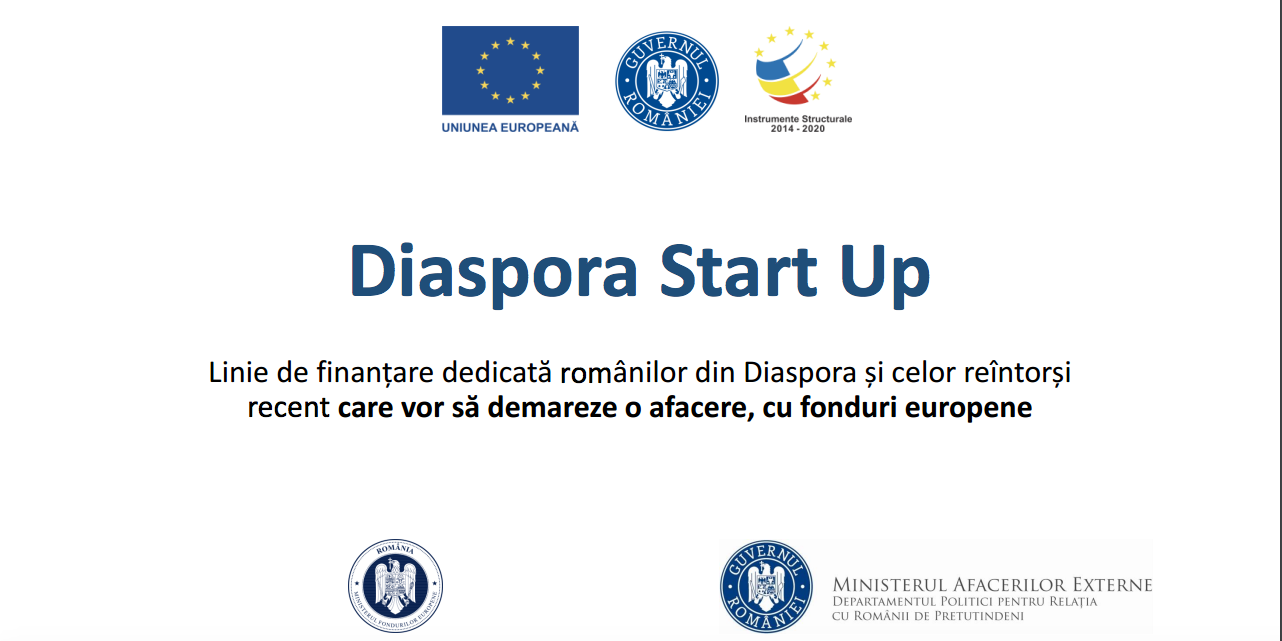 Informații utlie despre programul Diaspora Start-up