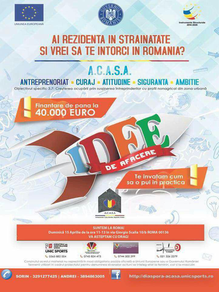 Diaspora Start-Up A.C.A.S.A. este la Roma!
